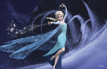 Canvastavla - Frozen - Elsa and Her Magic Powers