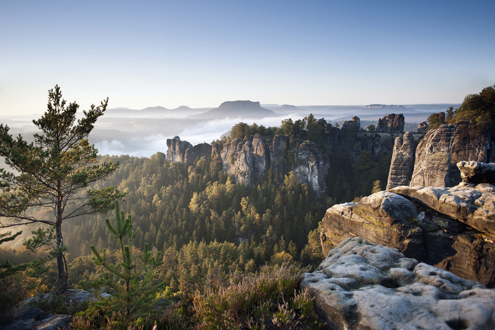 Morning at the Bastei