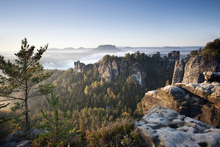 Canvastavla - Morning at the Bastei