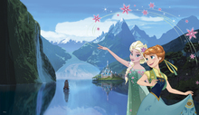 Canvastavla - Frozen Fever - Elsa and Anna