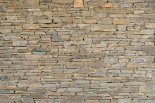 Canvastavla - Stacked Stone Wall