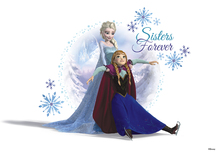 Canvastavla - Frozen - Elsa and Anna Sisters Forever