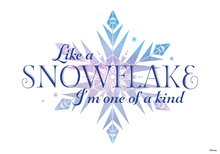 Canvastavla - Frozen - Like a Snowflake I'm One Of a Kind