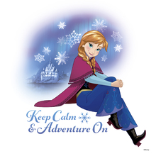 Canvastavla - Frozen - Keep Calm and Adventure On