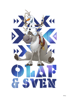 Canvastavla - Frozen - Olaf and Sven
