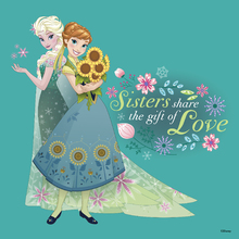 Canvastavla - Frozen Fever - Sisters Share the Gifth of Love