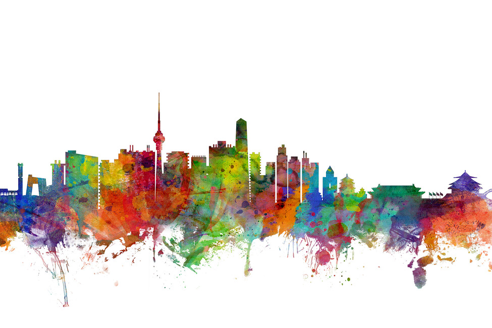 Beijing Skyline Wall Mural Amp Photo Wallpaper Photowall