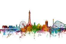 Canvas print - Blackpool England Skyline