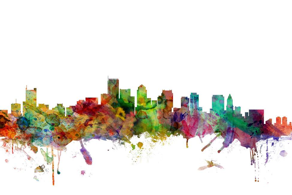 Boston massachusetts skyline wall mural photo for Boston wall mural