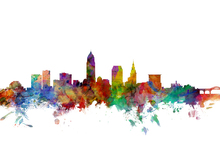 Wall mural - Cleveland Ohio Skyline