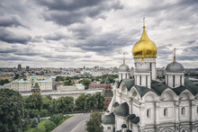 Wall mural - Grey Sky over Kremlin