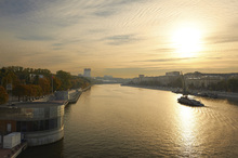 Wall mural - Sunset over Moscow River