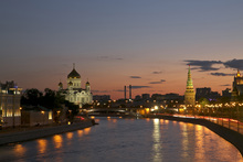 Fototapet - Moscow River