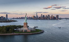 Wall Mural - Aerial View of Statue of Liberty