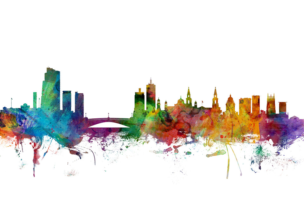 Leeds england skyline wall mural photo wallpaper for England wall mural
