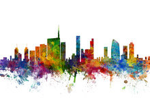 Canvas print - Milan Skyline