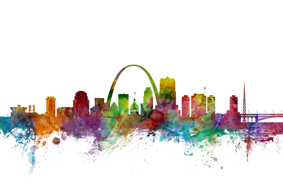St Louis Missouri Skyline