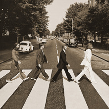 Canvastavla - Beatles - Abbey Road Sepia