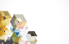 Fototapet - Abstract Color Hexagons