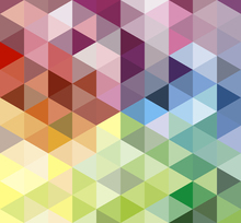 Fototapet - Colorful Triangles