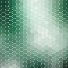 Fototapet - Emerald Green Hexagons