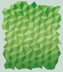 Fototapet - Green Polygon Background