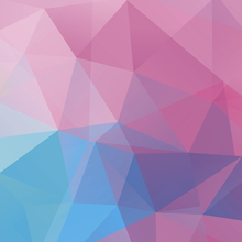 Canvas print - Polygonal Pastels