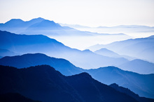 Fototapet - Endlessly Rising Peaks of Mountains