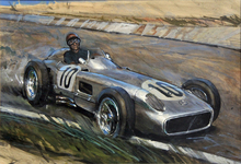 Wall Mural - J M Fangio at Speed