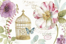 Canvas print - Rainbow Seeds Birdcage