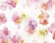 Fototapet - Watercolor Petals