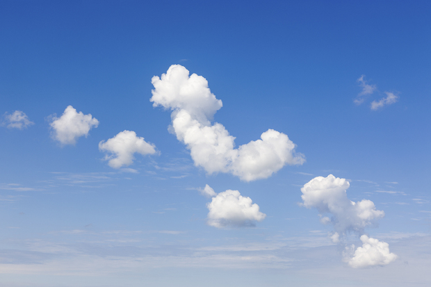 White clouds wall mural photo wallpaper photowall for Clouds wall mural