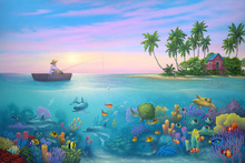 Fototapet - Fishing in Paradise