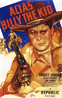 Leinwandbild - Movie Poster Alias Billy the Kid