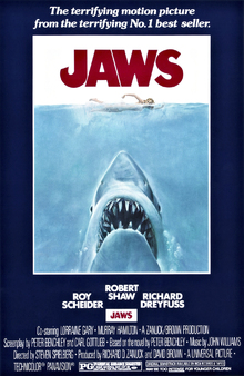 Canvas print - Movie Poster Jaws