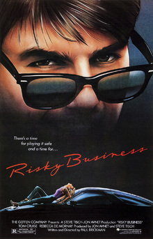 Leinwandbild - Movie Poster Risky Business