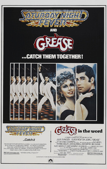 Canvas print - Movie Poster Saturday Night Fever and Grease