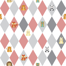 Wallpaper - Retro Harlequin pink