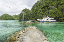 Fototapet - Crystal Clear Waters of Bucas Grande
