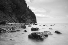 Canvas print - Rocks in Tibanban Island in Mono