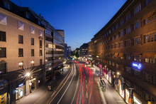 Canvas print - Light Streaks at Kungsgatan