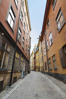 Canvas print - Old Town Street in Stockholm
