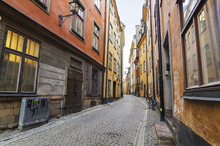 Canvas print - Street in Gamla Stan Stockholm
