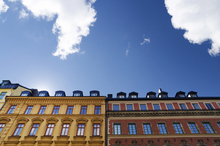 Fototapet - Vivid Colors of Buildings in Stockholm