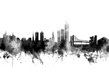 Canvas print - Oslo Skyline Black