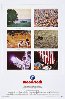 Leinwandbild - Woodstock Photo Movie Poster