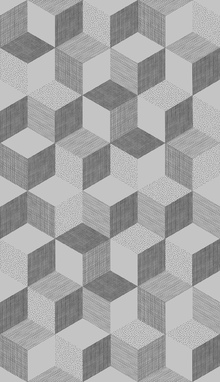 Behang - Hexagon Concrete