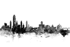Wall mural - Albany New York Skyline Black