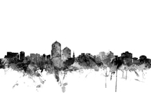 Wall mural - Albuquerque New Mexico Skyline Black