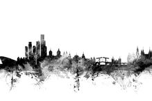 Wall mural - Amsterdam Skyline Black